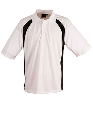 Winning Spirit-Winning Spirit Men's CoolDry® Micro-mesh Short Sleeve Polo-White/black / S-Uniform Wholesalers - 9