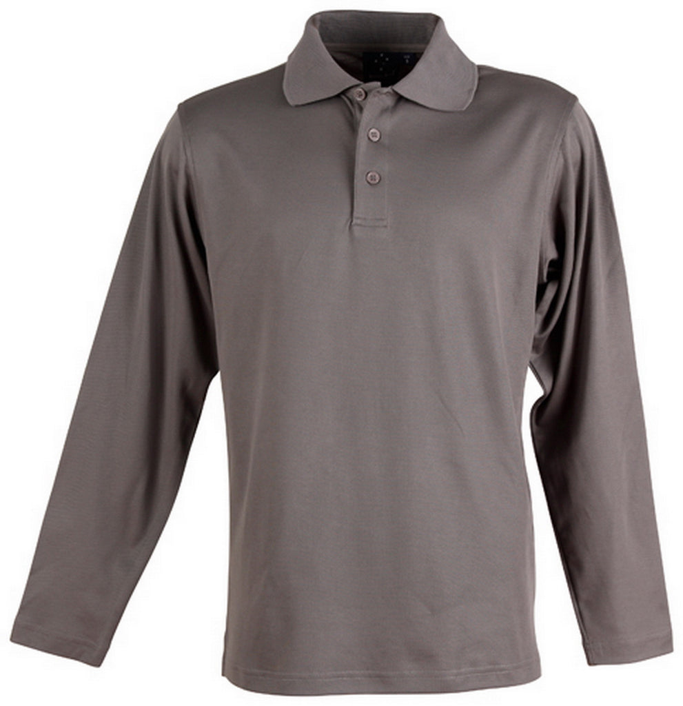 Winning Spirit-Winning Spirit TrueDry® Long Sleeve Polo-Steel Grey / XL-Uniform Wholesalers - 4