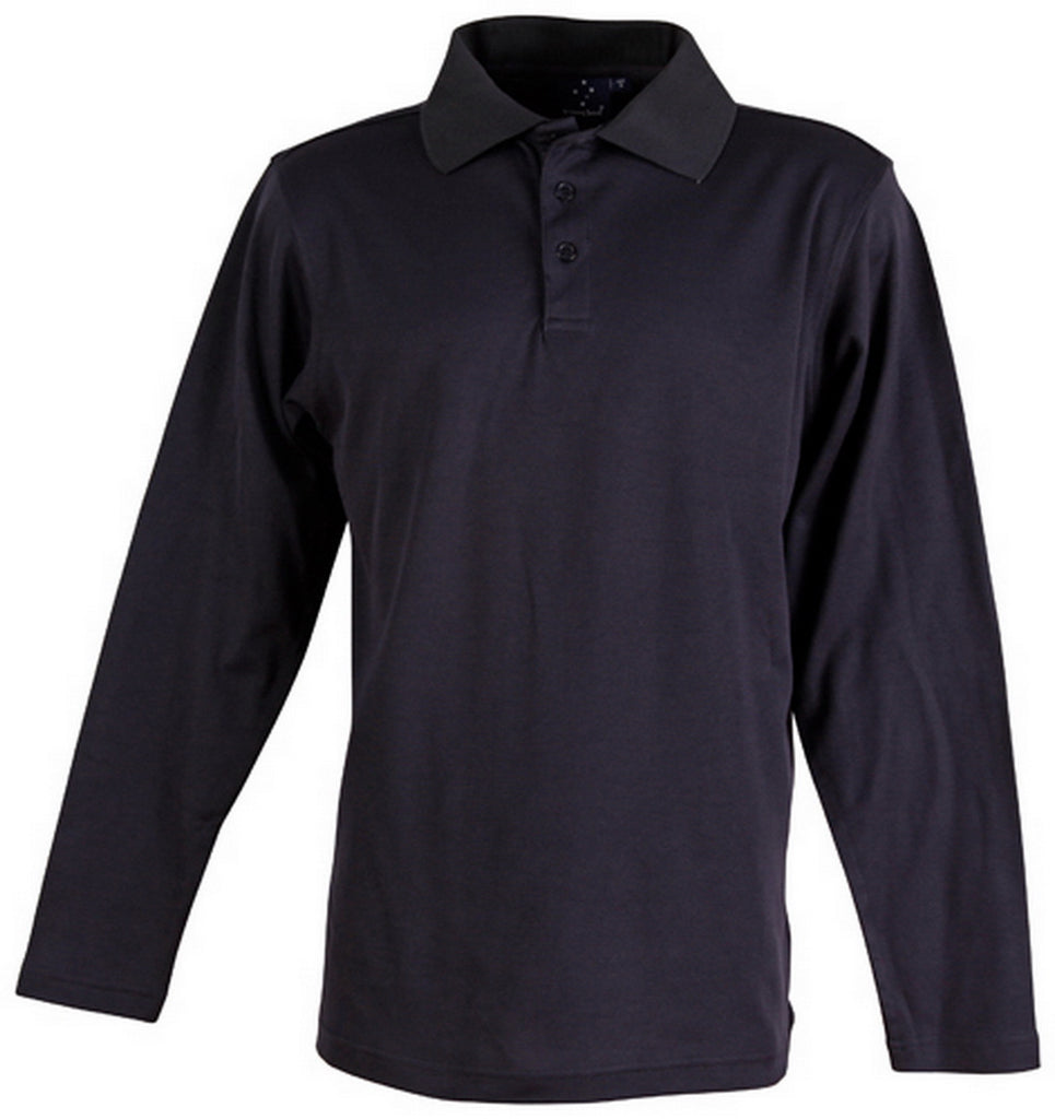 Winning Spirit-Winning Spirit TrueDry® Long Sleeve Polo-Navy / S-Uniform Wholesalers - 5