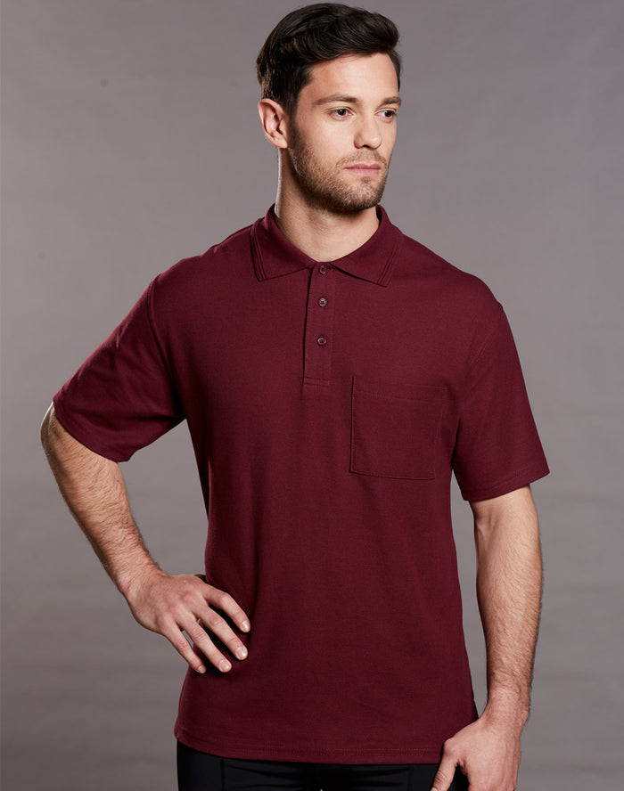 Winning Spirit Pique Knit Short Sleeve Polo (Unisex)-(PS41)