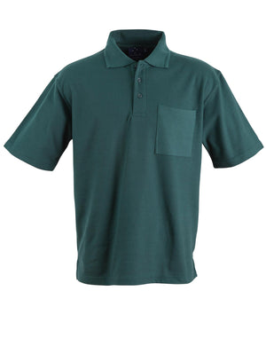 Winning Spirit-Winning Spirit Pique Knit Short Sleeve Polo (Unisex)-Bottle / XS-Uniform Wholesalers - 3