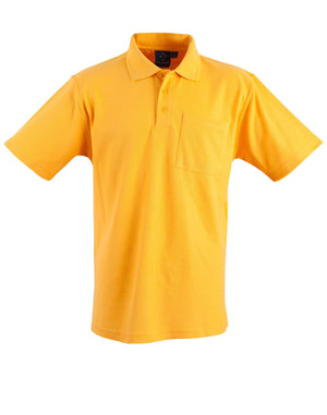 Winning Spirit-Winning Spirit Pique Knit Short Sleeve Polo (Unisex)-Gold / XS-Uniform Wholesalers - 4