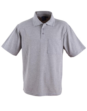 Winning Spirit-Winning Spirit Pique Knit Short Sleeve Polo (Unisex)-Grey / XS-Uniform Wholesalers - 5