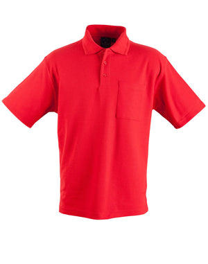 Winning Spirit-Winning Spirit Pique Knit Short Sleeve Polo (Unisex)-Red / XS-Uniform Wholesalers - 8