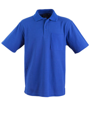 Winning Spirit-Winning Spirit Pique Knit Short Sleeve Polo (Unisex)-Royal / XS-Uniform Wholesalers - 9