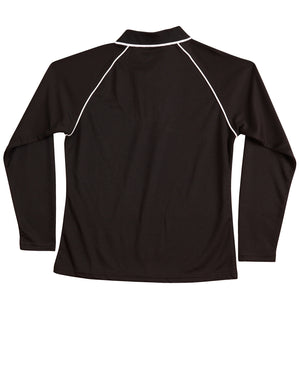 Winning Spirit Ladies' CoolDry® Raglan Long Sleeve Contrast Polo-(PS44)