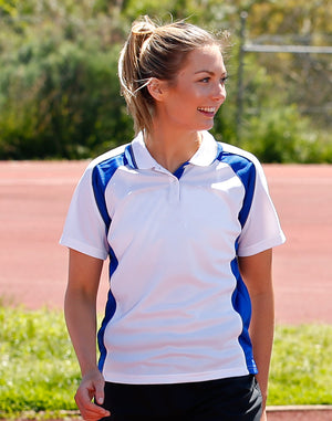 Winning Spirit Ladies' CoolDry® Short Sleeve Contrast Polo-(PS50)