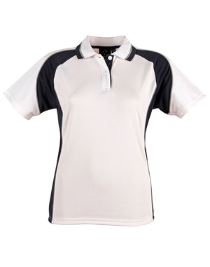 Winning Spirit-Winning Spirit Ladies' CoolDry® Short Sleeve Contrast Polo-White/Navy / 8-Uniform Wholesalers - 4