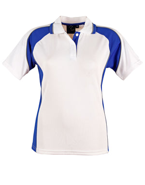 Winning Spirit-Winning Spirit Ladies' CoolDry® Short Sleeve Contrast Polo-White/Navy / 18-Uniform Wholesalers - 5