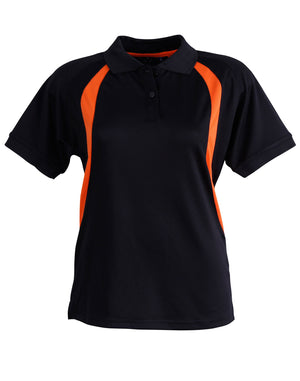 Winning Spirit-Winning Spirit Ladies' CoolDry® Soft Mesh Polo-Black/orange / 8-Uniform Wholesalers - 2