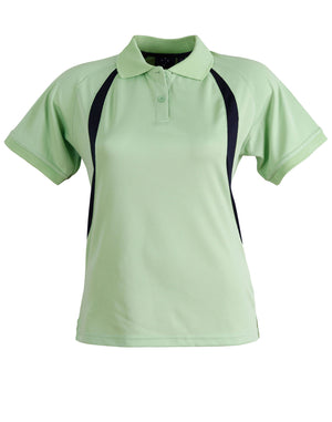 Winning Spirit-Winning Spirit Ladies' CoolDry® Soft Mesh Polo-Green/Navy / 8-Uniform Wholesalers - 3