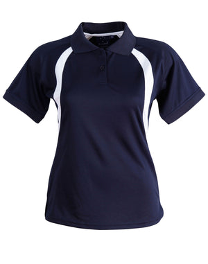 Winning Spirit-Winning Spirit Ladies' CoolDry® Soft Mesh Polo-Navy/White / 8-Uniform Wholesalers - 7