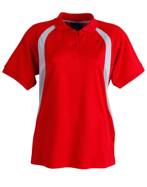 Winning Spirit-Winning Spirit Ladies' CoolDry® Soft Mesh Polo-Red/Grey / 8-Uniform Wholesalers - 8