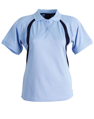 Winning Spirit-Winning Spirit Ladies' CoolDry® Soft Mesh Polo-Sky/navy / 8-Uniform Wholesalers - 10