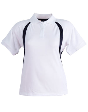 Winning Spirit-Winning Spirit Ladies' CoolDry® Soft Mesh Polo-White/Navy / 8-Uniform Wholesalers - 9