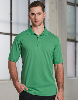 Winning Spirit Men's Cotton Stretch Short Sleeve Polo-(PS55)