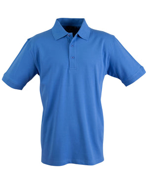 Winning Spirit-Winning Spirit Men's Cotton Stretch Short Sleeve Polo-Azure Blue / S-Uniform Wholesalers - 2