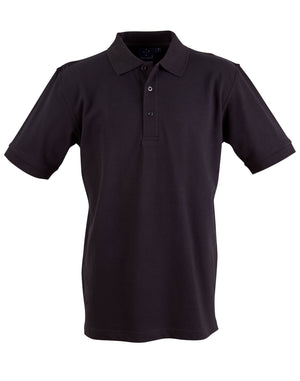 Winning Spirit-Winning Spirit Men's Cotton Stretch Short Sleeve Polo-Black / S-Uniform Wholesalers - 3