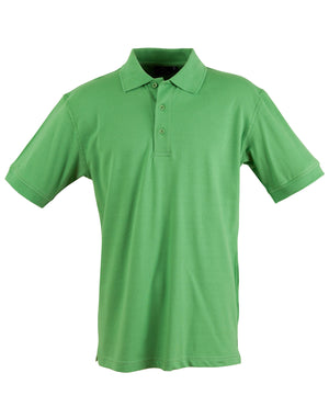 Winning Spirit-Winning Spirit Men's Cotton Stretch Short Sleeve Polo-Green Tea / S-Uniform Wholesalers - 4