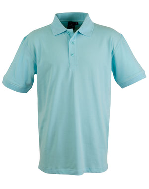 Winning Spirit-Winning Spirit Men's Cotton Stretch Short Sleeve Polo-Jasper Blue / S-Uniform Wholesalers - 5
