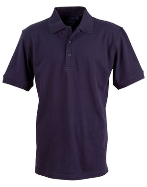 Winning Spirit-Winning Spirit Men's Cotton Stretch Short Sleeve Polo-Navy / S-Uniform Wholesalers - 6