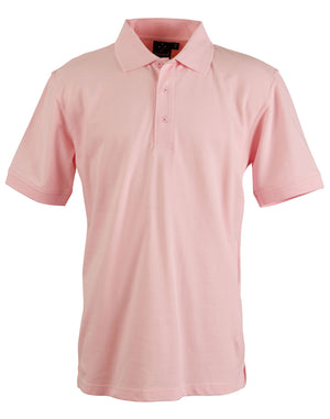 Winning Spirit-Winning Spirit Men's Cotton Stretch Short Sleeve Polo-Pink / S-Uniform Wholesalers - 7