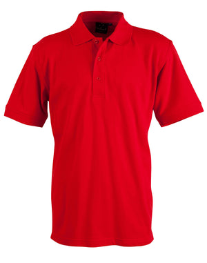 Winning Spirit-Winning Spirit Men's Cotton Stretch Short Sleeve Polo-Red / S-Uniform Wholesalers - 8