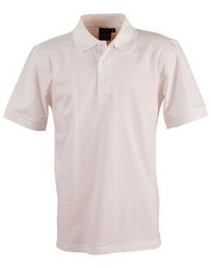 Winning Spirit-Winning Spirit Men's Cotton Stretch Short Sleeve Polo-White / S-Uniform Wholesalers - 10