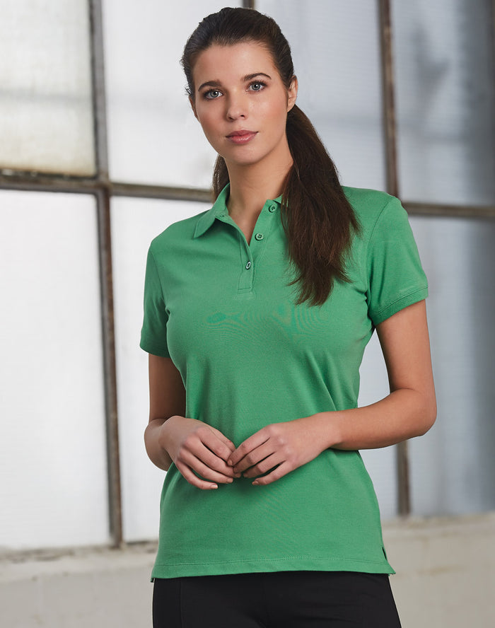 Winning Spirit Ladies' Cotton Stretch Pique Polo-(PS56)