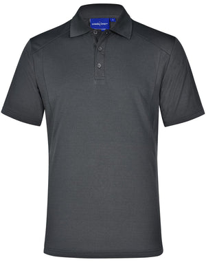 Winning Spirit Men's Breathable Bamboo Charcoal Short Sleeve Polo-(PS59)