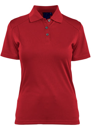 Winning Spirit Ladies' Breathable Bamboo Charcoal Short Sleeve Polo-(PS60)