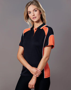 Winning Spirit Ladies' CoolDry® Contrast Polo with Sleeve Panels 1st (11 Colour)-(PS62)