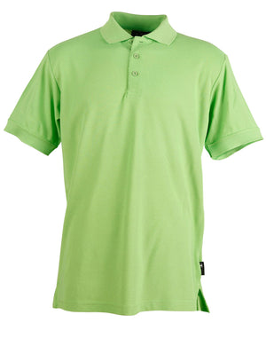 Winning Spirit-Winning Spirit Men's TrueDry® Solid Colour Pique Polo 1st (12 Colour)-Apple Green / S-Uniform Wholesalers - 2