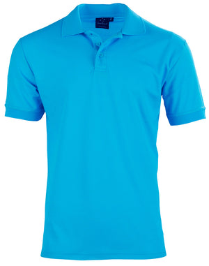 Winning Spirit Men's TrueDry® Solid Colour Pique Polo 1st (12 Colour)-PS63