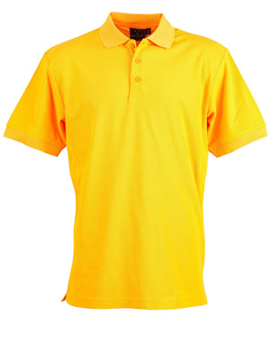 Winning Spirit-Winning Spirit Men's TrueDry® Solid Colour Pique Polo 1st (12 Colour)-Gold / S-Uniform Wholesalers - 8