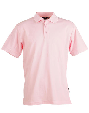 Winning Spirit-Winning Spirit Men's TrueDry® Solid Colour Pique Polo 1st (12 Colour)-Light Pink / M-Uniform Wholesalers - 9