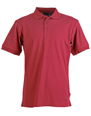 Winning Spirit-Winning Spirit Men's TrueDry® Solid Colour Pique Polo 1st (12 Colour)-Maroon / S-Uniform Wholesalers - 10