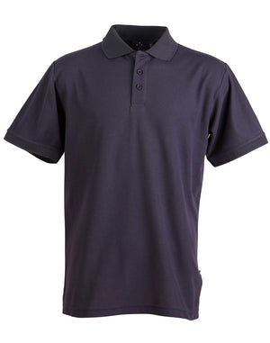 Winning Spirit-Winning Spirit Men's TrueDry® Solid Colour Pique Polo 1st (12 Colour)-Navy / S-Uniform Wholesalers - 11