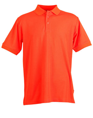 Winning Spirit-Winning Spirit Men's TrueDry® Solid Colour Pique Polo 1st (12 Colour)-Orange / S-Uniform Wholesalers - 12