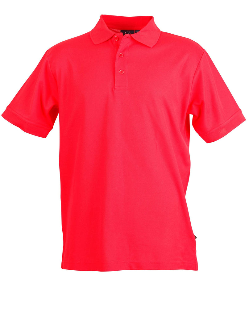 Winning Spirit-Winning Spirit Men's TrueDry® Solid Colour Pique Polo 1st (12 Colour)-Red / S-Uniform Wholesalers - 13