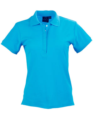 Winning Spirit Ladies' TrueDry® Solid Colour Pique Polo-(PS64)