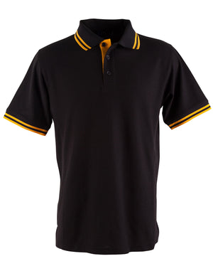 Winning Spirit-Winning Spirit Men's Grace Polo-S / Black/Gold-Uniform Wholesalers - 2
