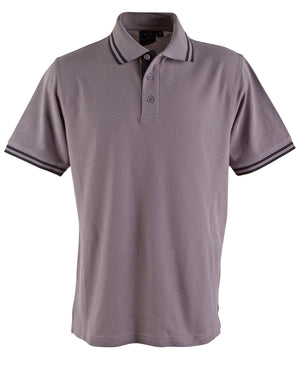 Winning Spirit-Winning Spirit Men's Grace Polo-S / Grey/Black-Uniform Wholesalers - 5