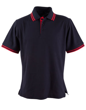 Winning Spirit-Winning Spirit Men's Grace Polo-S / Navy/Red-Uniform Wholesalers - 6