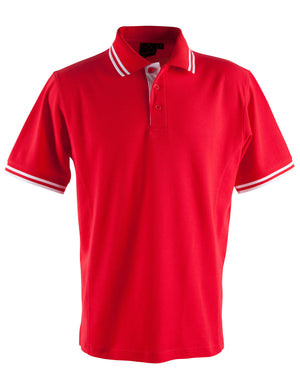 Winning Spirit-Winning Spirit Men's Grace Polo-S / Red/White-Uniform Wholesalers - 8