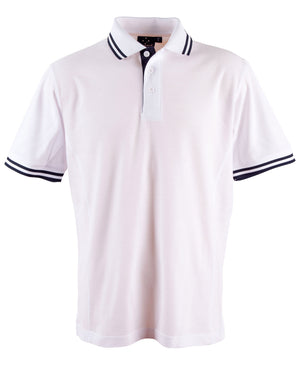 Winning Spirit-Winning Spirit Men's Grace Polo-S / White/Navy-Uniform Wholesalers - 10