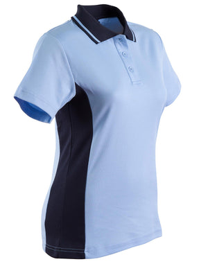 Winning Spirit-Winning Spirit Women's TrueDry® Contrast Short Sleeve Polo-8 / Sky/Navy-Uniform Wholesalers - 12