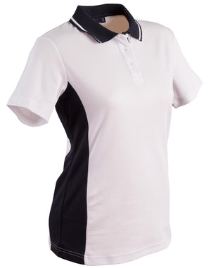 Winning Spirit-Winning Spirit Women's TrueDry® Contrast Short Sleeve Polo-8 / White/Navy-Uniform Wholesalers - 14