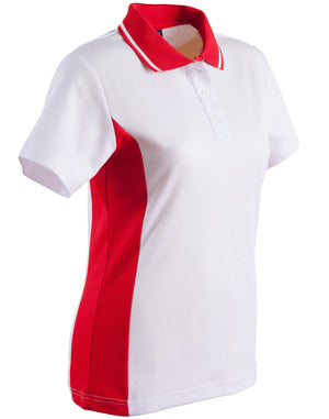 Winning Spirit-Winning Spirit Women's TrueDry® Contrast Short Sleeve Polo-8 / White/Red-Uniform Wholesalers - 13