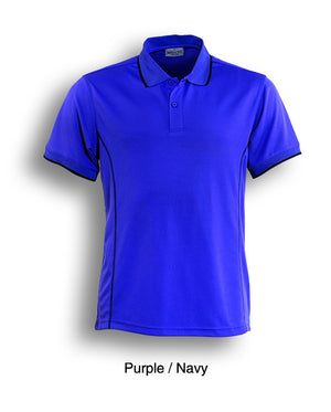 Bocini-Bocini Ladies Stitch Feature Essential  Short Sleeve Polo(2nd 12 colors)-Purple/Navy / 8-Uniform Wholesalers - 7